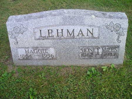 LEHMAN, SIDNEY MILES - Bremer County, Iowa | SIDNEY MILES LEHMAN