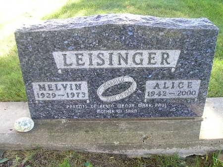LEISINGER, MELVIN - Bremer County, Iowa | MELVIN LEISINGER
