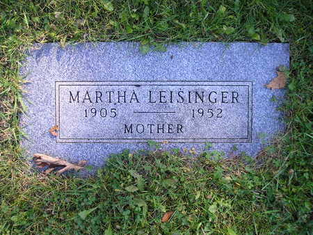 LEISINGER, MARTHA - Bremer County, Iowa | MARTHA LEISINGER