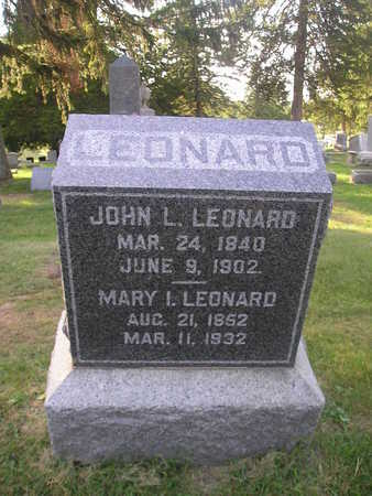 LEONARD, MARY I - Bremer County, Iowa | MARY I LEONARD