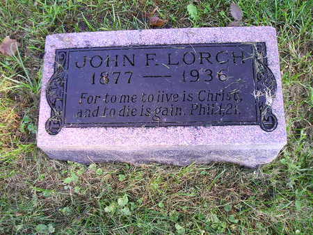 LORCH, JOHN F - Bremer County, Iowa | JOHN F LORCH