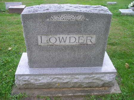 LOWDER, FAMILY - Bremer County, Iowa | FAMILY LOWDER