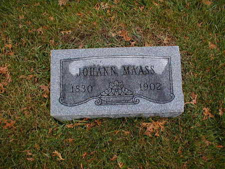 MAASS, JOHANN - Bremer County, Iowa | JOHANN MAASS