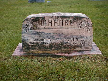 HOLM MAHNKE, MINNIE - Bremer County, Iowa | MINNIE HOLM MAHNKE