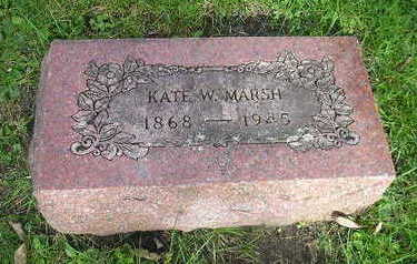 MARSH, KATE W - Bremer County, Iowa | KATE W MARSH