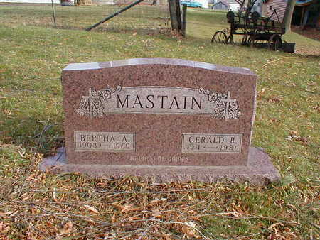 MASTAIN, BERTHA A - Bremer County, Iowa | BERTHA A MASTAIN