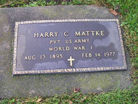 MATTKE, HARRY C - Bremer County, Iowa | HARRY C MATTKE
