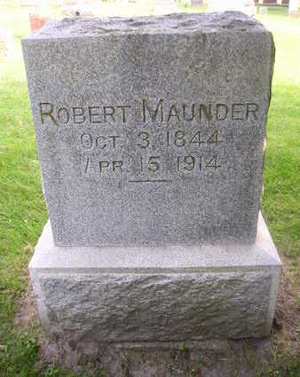 MAUNDER, ROBERT - Bremer County, Iowa | ROBERT MAUNDER