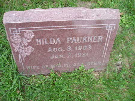PAUKNER MCALISTER, HILDA - Bremer County, Iowa | HILDA PAUKNER MCALISTER