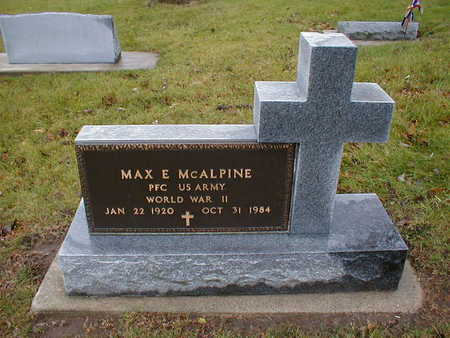 MCALPINE, MAX E - Bremer County, Iowa | MAX E MCALPINE