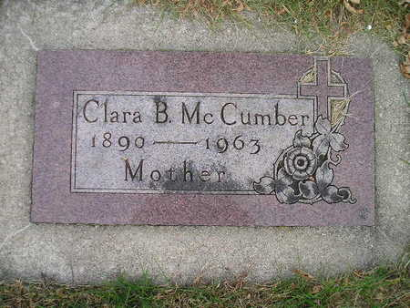 MCCUMBER, CLARA B - Bremer County, Iowa | CLARA B MCCUMBER