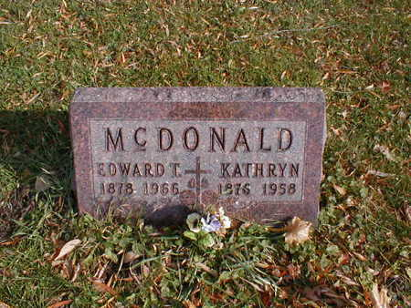 MCDONALD, EDWARD T - Bremer County, Iowa | EDWARD T MCDONALD