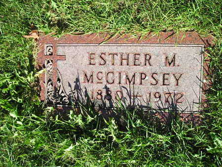 MCGIMPSEY, ESTHER M - Bremer County, Iowa | ESTHER M MCGIMPSEY