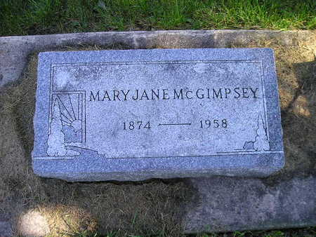 MCGIMPSEY, MARY JANE - Bremer County, Iowa | MARY JANE MCGIMPSEY