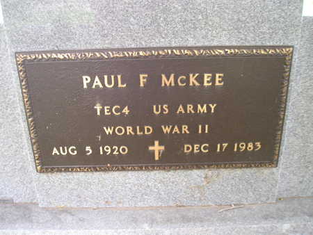 MCKEE, PAUL F - Bremer County, Iowa | PAUL F MCKEE