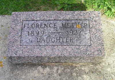 METHER, FLORENCE - Bremer County, Iowa | FLORENCE METHER