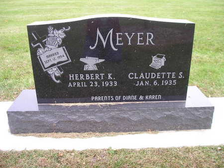 MEYER, CLAUDETTE S - Bremer County, Iowa | CLAUDETTE S MEYER