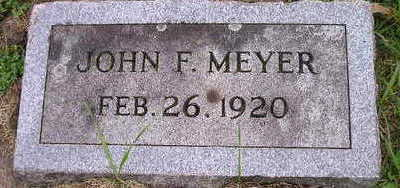 MEYER, JOHN F - Bremer County, Iowa | JOHN F MEYER