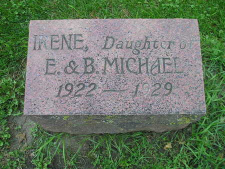 MICHAEL, IRENE - Bremer County, Iowa | IRENE MICHAEL