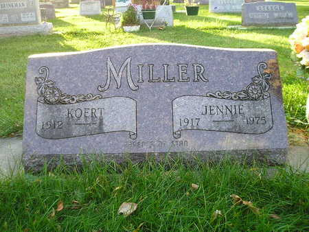 MILLER, JENNIE - Bremer County, Iowa | JENNIE MILLER