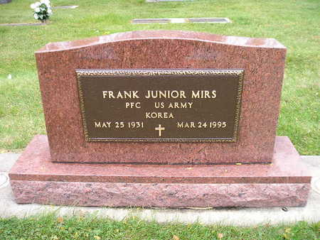 MIRS, FRANK JUNIOR - Bremer County, Iowa | FRANK JUNIOR MIRS