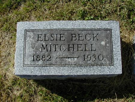 BECK MITCHELL, ELSIE - Bremer County, Iowa | ELSIE BECK MITCHELL
