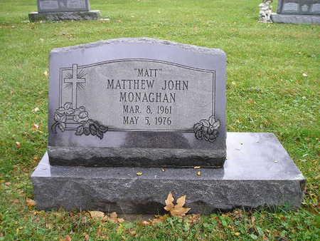 MONAGHAN, MATTHEW JOHN - Bremer County, Iowa | MATTHEW JOHN MONAGHAN