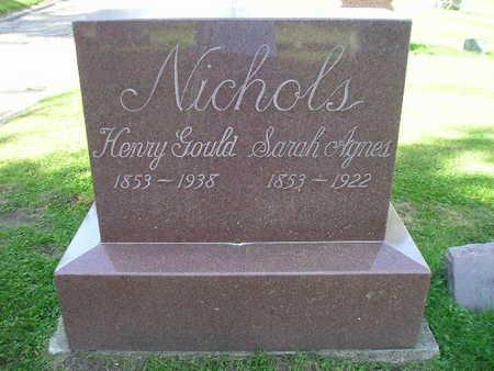 NICHOLS, SARAH AGNES - Bremer County, Iowa | SARAH AGNES NICHOLS