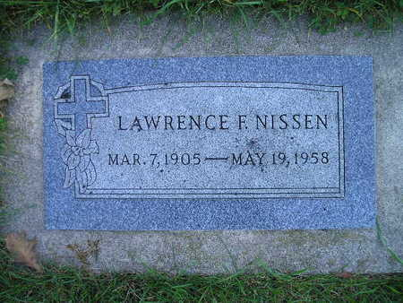 NISSEN, LAWRENCE F - Bremer County, Iowa | LAWRENCE F NISSEN