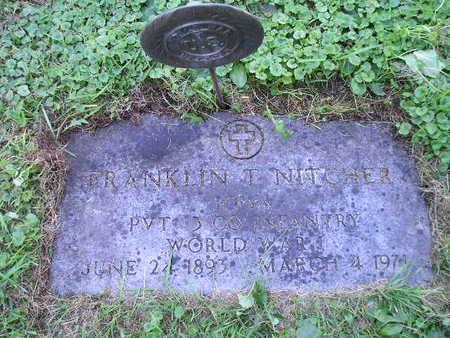 NITGHER, FRANKLIN T - Bremer County, Iowa   FRANKLIN T NITGHER