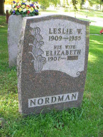 NORDMAN, LESLIE W - Bremer County, Iowa | LESLIE W NORDMAN