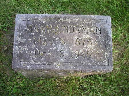 NORMAN, MARY J - Bremer County, Iowa   MARY J NORMAN