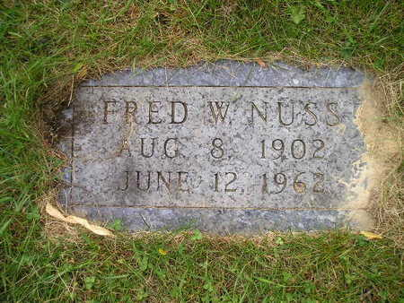 NUSS, FRED W - Bremer County, Iowa | FRED W NUSS
