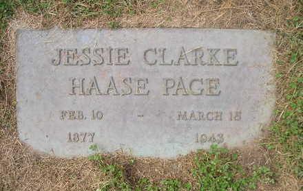 CLARKE PAGE, JESSIE - Bremer County, Iowa | JESSIE CLARKE PAGE