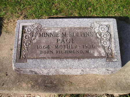 ROLLINS PAGE, MINNIE M - Bremer County, Iowa | MINNIE M ROLLINS PAGE