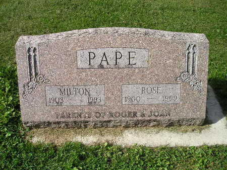 PAPE, ROSE - Bremer County, Iowa | ROSE PAPE