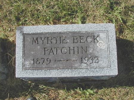 BECK PATCHIN, MYRTIE F. - Bremer County, Iowa | MYRTIE F. BECK PATCHIN