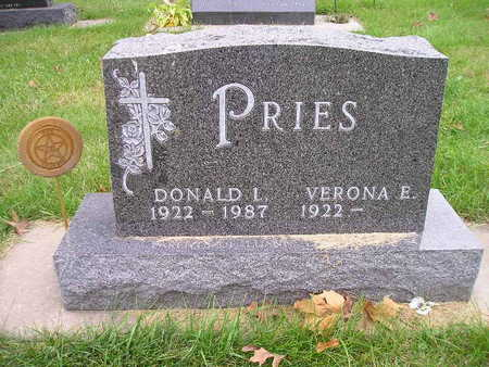 PRIES, DONALD I - Bremer County, Iowa | DONALD I PRIES