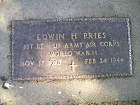 PRIES, EDWIN H - Bremer County, Iowa | EDWIN H PRIES