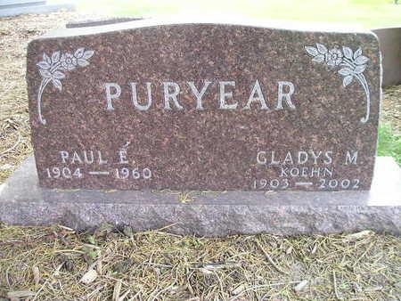 PURYEAR, GLADYS M - Bremer County, Iowa | GLADYS M PURYEAR