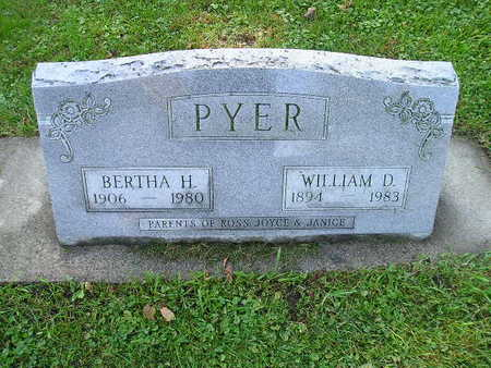 PYER, BERTHA H - Bremer County, Iowa | BERTHA H PYER