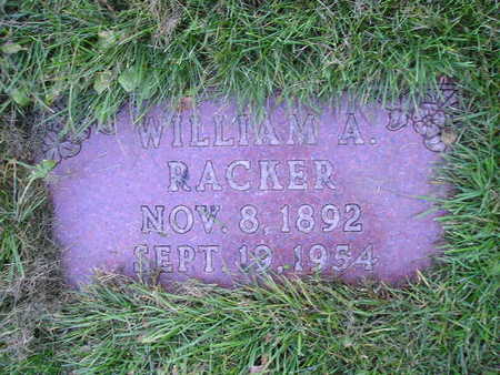 RACKER, WILLIAM A - Bremer County, Iowa | WILLIAM A RACKER