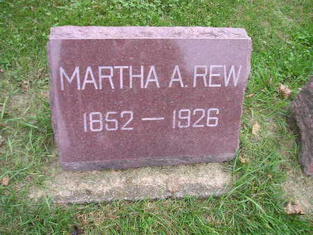 REW, MARTHA A - Bremer County, Iowa | MARTHA A REW