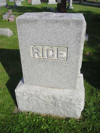 RICE, MARY A - Bremer County, Iowa | MARY A RICE