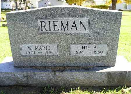 RIEMAN, HIE A - Bremer County, Iowa | HIE A RIEMAN