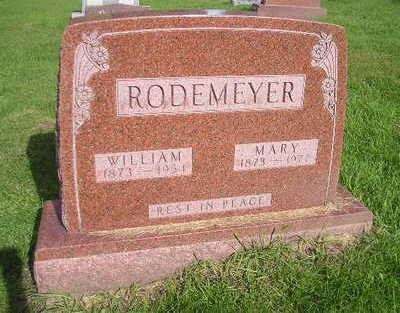 RODEMEYER, WILLIAM - Bremer County, Iowa | WILLIAM RODEMEYER