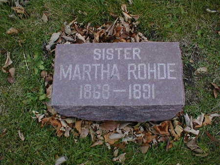 ROHDE, MARTHA - Bremer County, Iowa | MARTHA ROHDE
