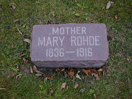 ROHDE, MARY - Bremer County, Iowa | MARY ROHDE