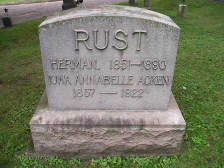 RUST, HERMAN - Bremer County, Iowa | HERMAN RUST
