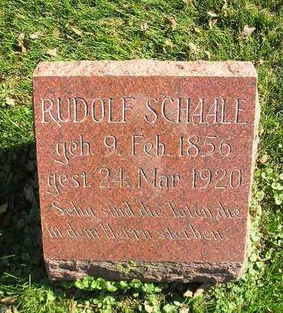 SCHAALE, RUDOLF - Bremer County, Iowa | RUDOLF SCHAALE